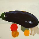 eggplant , lemon and tomato 2 - study by frederic levy-hadida