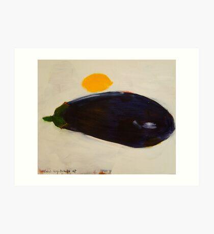 eggplant and lemon - study Art Print