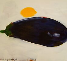 eggplant and lemon - study by frederic levy-hadida