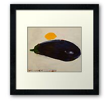 eggplant and lemon - study Framed Print