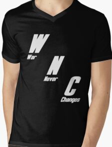 War, War Never Changes Mens V-Neck T-Shirt