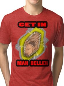 Get In Mah Belleh Yellow Tri-blend T-Shirt