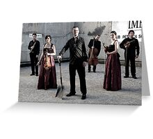 Palma Chamber Orchestra Dig In Greeting Card
