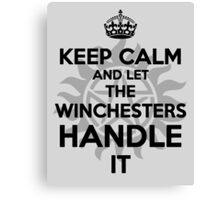 KEEP CALM: Winchesters Canvas Print