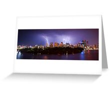 City Storm Chase from Kangaroo Point Greeting Card