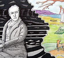 290 - WILLIAM BLAKE - DAVE EDWARDS - MIXED MEDIA - 2010 by BLYTHART
