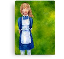Alice in Wonderland cover Canvas Print