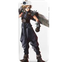 Final Fantasy 7 - FF7 - FFVII - Cloud, with buster sword. iPhone Case/Skin