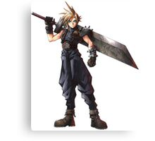 Final Fantasy 7 - FF7 - FFVII - Cloud, with buster sword. Canvas Print
