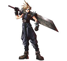 Final Fantasy 7 - FF7 - FFVII - Cloud, with buster sword. Photographic Print
