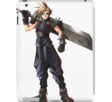 Final Fantasy 7 - FF7 - FFVII - Cloud, with buster sword. iPad Case/Skin