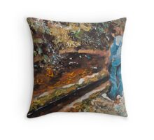 Water basin - Canal at the trail Throw Pillow