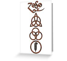 TRIQUETRA - the soil V Greeting Card