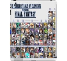 Final Fantasy Periodic table, Chart (all character) iPad Case/Skin