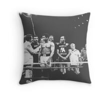 Thrilla in Manila. Marchiano Interviews Ali at weigh-in Throw Pillow