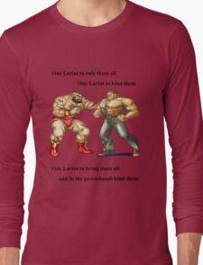 Zangief and Haggar, powerbombs and lariats Long Sleeve T-Shirt