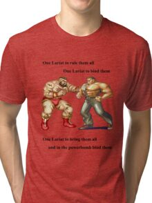 Zangief and Haggar, powerbombs and lariats Tri-blend T-Shirt