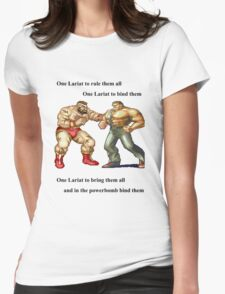 Zangief and Haggar, powerbombs and lariats Womens Fitted T-Shirt