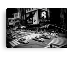 New York Times Square Black and White Canvas Print