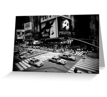 New York Times Square Black and White Greeting Card
