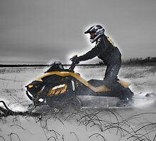 Skidooing in Monochrome (and that's only half a lie) by Michael Stocks
