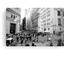New York Wall Street & Stock Exchange Black and White Metal Print
