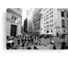 New York Wall Street & Stock Exchange Black and White Canvas Print