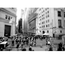 New York Wall Street & Stock Exchange Black and White Photographic Print