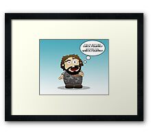 Check Yourself Framed Print