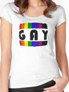 Gay Pride Women's Fitted Scoop T-Shirt