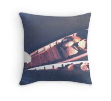 Boatman from Hoi An Throw Pillow