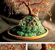 Copper Island, wire tree sculpture by Sal Villano