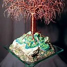 Mystical Island, wire tree sculpture by Sal Villano