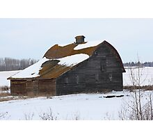 Lonely Prairie Barn   Photographic Print