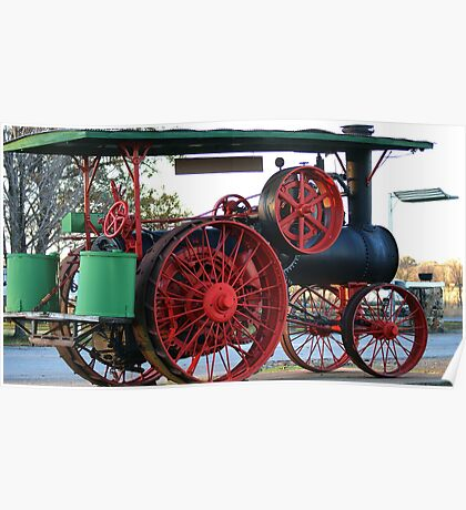 The OLD STEAM Tractor Poster
