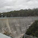 Whispering Wall at Barossa Dam - South Australia by Teuchter