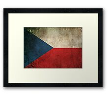 Old and Worn Distressed Vintage Flag of Czech Republic Framed Print