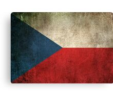 Old and Worn Distressed Vintage Flag of Czech Republic Canvas Print