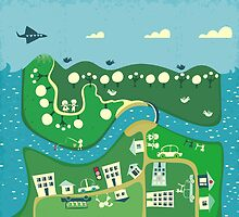 cartoon map by Anastasiia Kucherenko