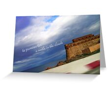 he promises her a castle in the clouds Greeting Card
