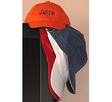 Caps in Dutch Flag Colours Photographic Print