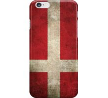 Old and Worn Distressed Vintage Flag of Denmark iPhone Case/Skin