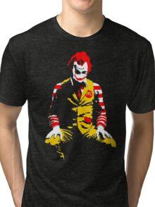 The Joker Ronald Mcdonald - Batman Tri-blend T-Shirt