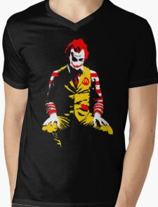 The Joker Ronald Mcdonald - Batman Mens V-Neck T-Shirt