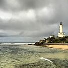 The Point Lonsdale Coast (2)  with Lighthouse by Larry Lingard-Davis