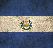 Old and Worn Distressed Vintage Flag of El Salvador by Jeff Bartels