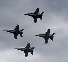 RAAF FA18 Hornets, Australian Airshow 2009 by Bev Pascoe
