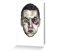 Abused Face Greeting Card