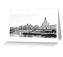 Dresden, Terrassenufer and Frauenkirche Greeting Card
