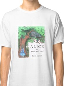 Modern Alice in Wonderland Book Cover Classic T-Shirt